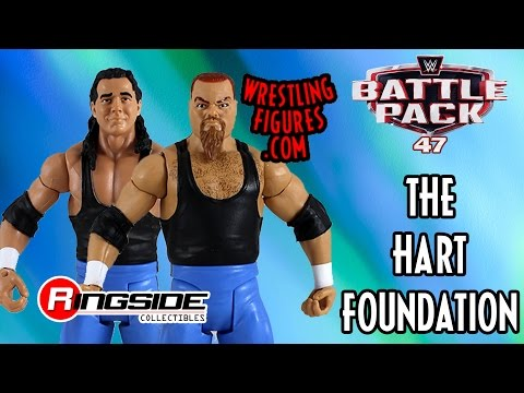 WWE FIGURE INSIDER: The Hart Foundation - WWE Battle Packs 47 WWE Toy Wrestling Action Figure