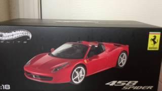Hotwheels Elite 1/18 Die-cast red Ferrari 458 Spider