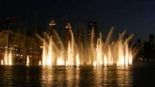 Dubai Fountain Show at Burj Khalifa (Night)