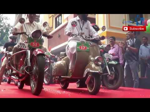 Vintage bike & cars  festival Goa India .  Part 1