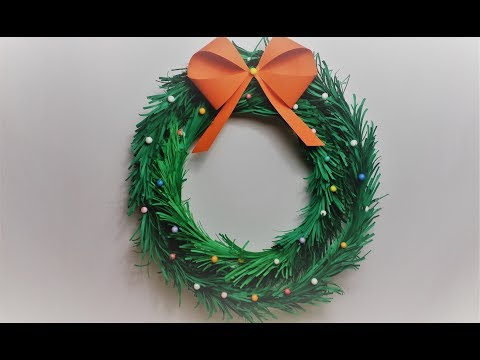 How To make Paper Christmas Wreath at Home/DIY Wreath making at home
