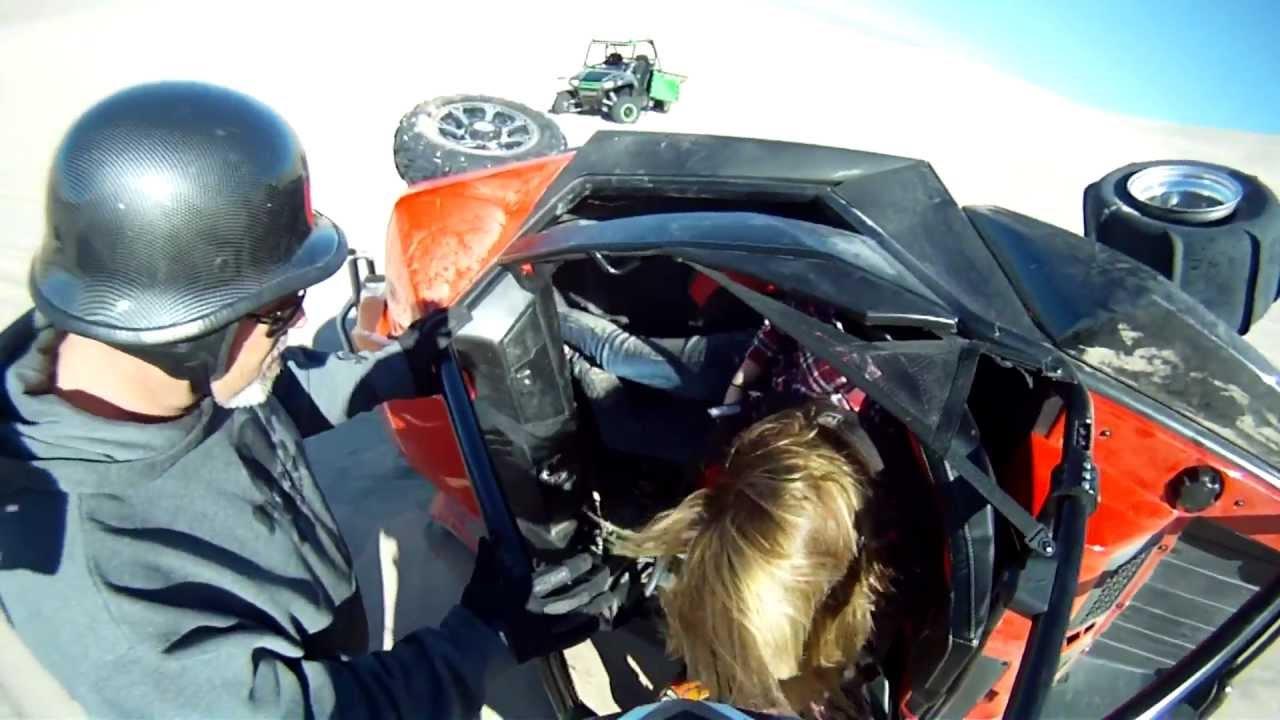 Wild cat Crash at Dumont Dunes, 2013 Gopro - YouTube