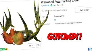 New Wanwood Autumn King Crown!? (ROBLOX MESSED UP!)