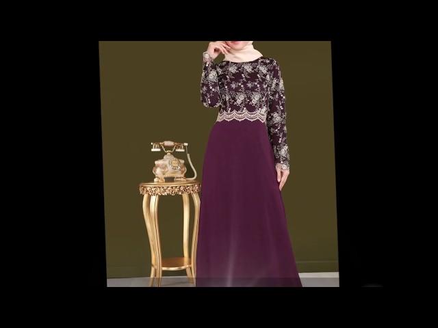 Modaselvim Tesettür Büyük Beden Abiye Elbise Modelleri
