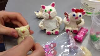 Сувенирный кот из соленого теста