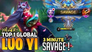 Download Mp3 SAVAGE In 3 Minute Luo Yi Insane Burst Damage By ꃅꍟꈤꀸꋪꌩ Mobile Legends