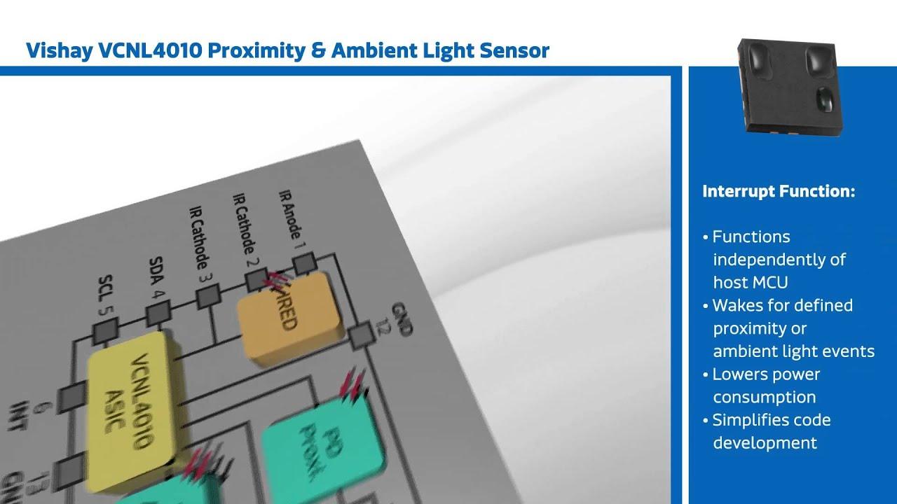 New This Week at Mouser Electronics – Vishay VCNL4010 Proximity & Ambient  Light Sensor