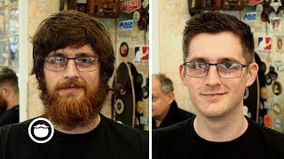 Epic Haircut and Beard Transformation