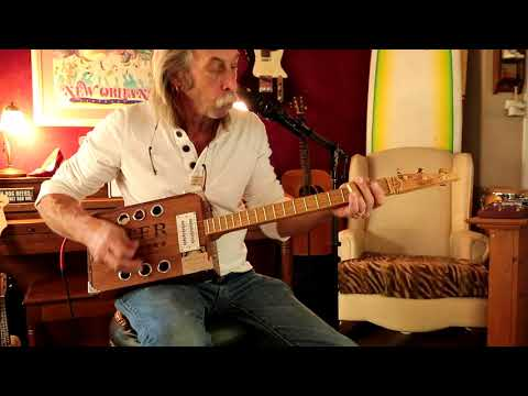 Curtis Lowe on 3 string cigar box guitar