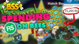 [Roblox] Bee Swarm Simulator: SPENDING ALL MY ROBUX ON LEGENDARY & EVENT BEES