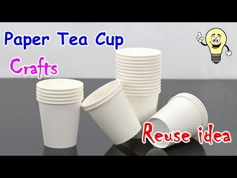 Amazing Craft From Paper Cup | DIY Disposable Paper Tea Cup Reuse ideas | Best Out of Waste