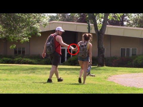Holding Girl's Hand Prank at Shasta College!