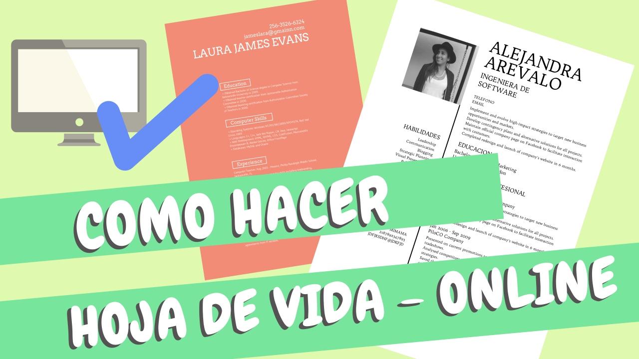 Como Hacer Hoja de Vida Online - Curriculum Vitae - Desygner ...