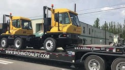 SOLD Ottawa T2 terminal tractors leaving Washington Liftruck for customer delivery