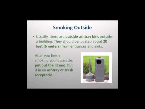 CA Smoking Laws and Etiquette