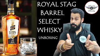 Royal Stag Barrel Select Whisky Unboxing  Taste Nose Price Reviews in Hindi