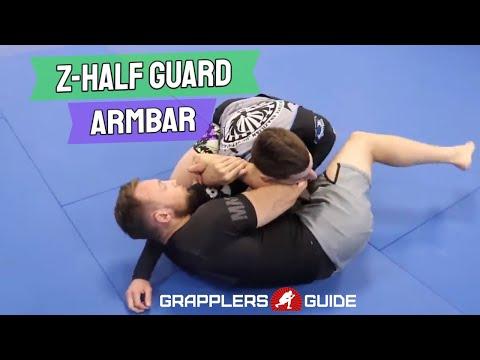 Craig Jones - Z-Half Guard Armbar (Bringing Leg Over The Head)