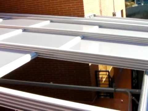 techo movil de policarbonato - youtube