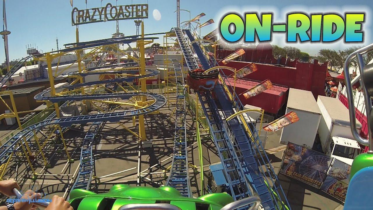Crazy Coaster On Ride Hd Pov Rcs Midway Orange County