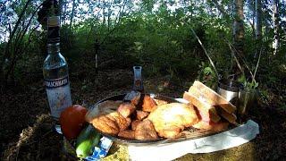 Рыбалка Поход Готовка мяса на огне Выпивка18