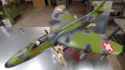 FlyFly Hawker Hunter Swiss Green 90mm EDF jet PNF Unboxing