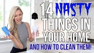 14 NASTY Things in Your Home & How To Clean Them!