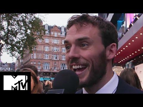 Sam Claflin Reveals Hilarious  Proposal On Journey's End Red Carpet  MTV Movies
