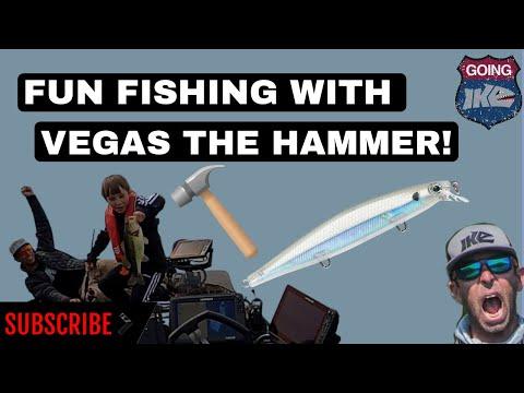 Bass Fishing Fun With Vegas The Hammer!