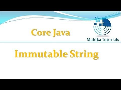Core Java 78 Immutable String