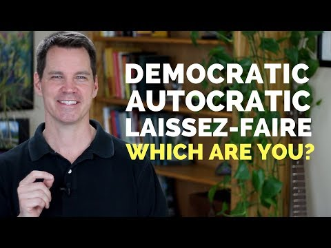 Autocratic, Democratic, and Laissez-Faire Leadership Styles for Managers
