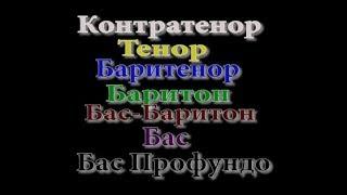 Смотреть клип РўРёРїС‹ мужских певческих голосов:Тенор,Баритон,Бас(Дополненное видео)Голоса РІ мюзиклах онлайн