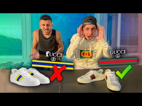 FaZe Rug Guesses REAL VS FAKE GUCCI!!