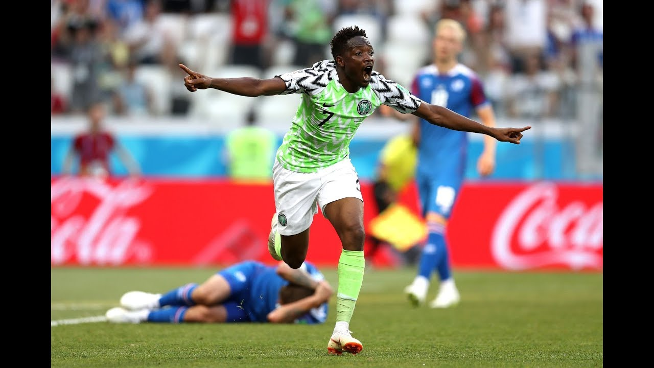 Download Nigeria vs Iceland 2 - 0 Highlights: Watch Nigerian fans reaction moment Ahmed Musa scored