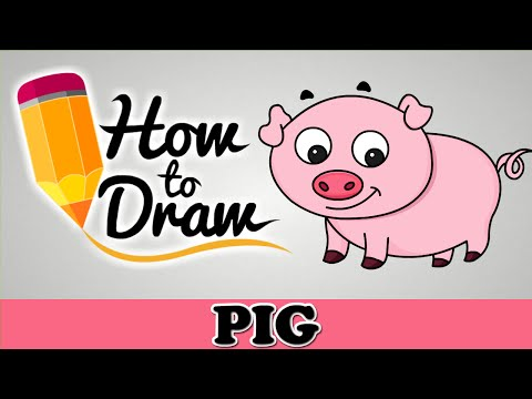 How To Draw A Cute Pig Easy Step By Step Cartoon Art
