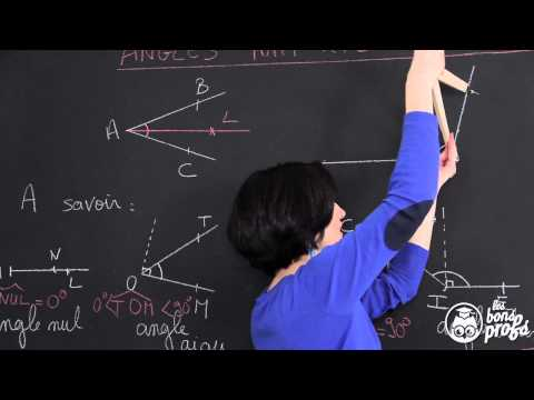 Tracer une bissectrice - Géométrie plane - Maths 6e - Les Bons Profs