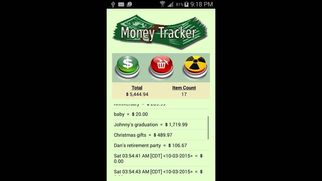 money tracker