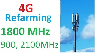 Spectrum Refarming for 4G capacity: O2 UK, EE, Vodafone, 3 UK 1800MHz