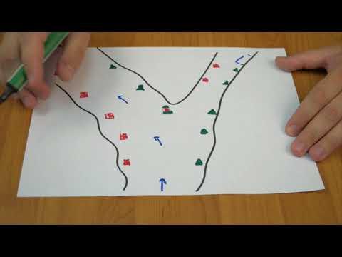 Как обозначается река на карте