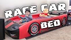 UNBOXING: Delta Children Turbo Race Car Bed | ZAM adventures