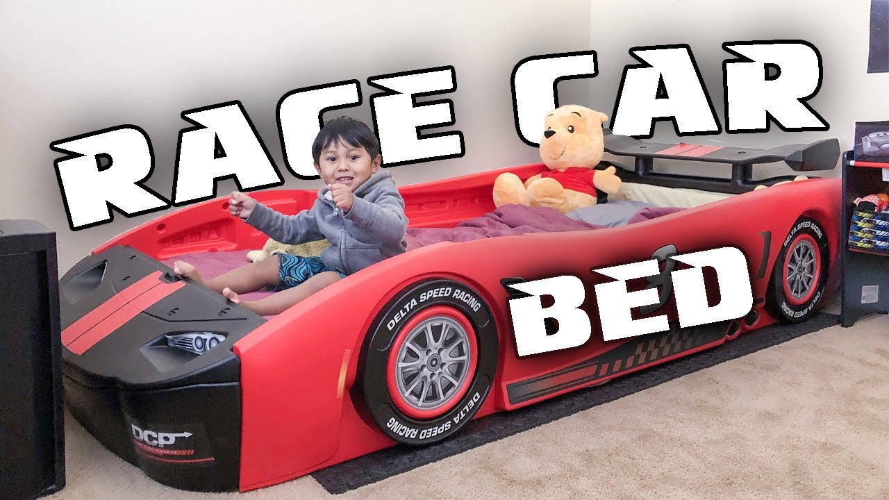 Delta Children Turbo Race Car Bed Red