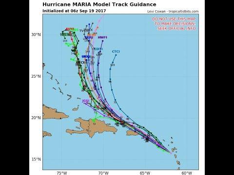 HURRICANE MARIA CATEGORY 5 160 MPH HEADING FOR VIRGIN ISLANDS PUERTO RICO, JOSE MID ATLANTIC COAST