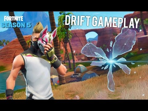 Fortnite Battle Royale Season 5 NEW Drift Skin Gameplay & Map Exploration!