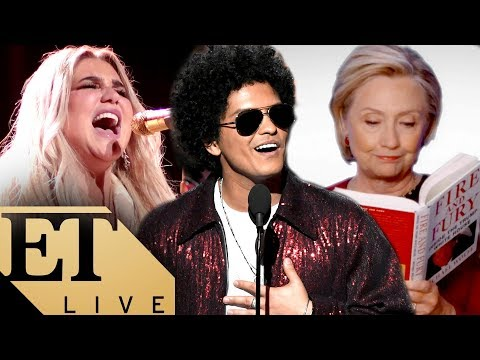 The BIGGEST Moments From the 2018 Grammys: Kesha, Bruno Mars, Kendrick Lamar, & Hillary Clinton