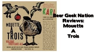 Karl Strauss Mouette A Trois (fruitcake Beer?) | Beer Geek Nation Craft Beer Reviews