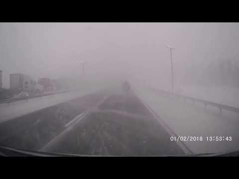 Massive Pileup Crash Thruway 90 East near Buffalo New York Snow Blizzard