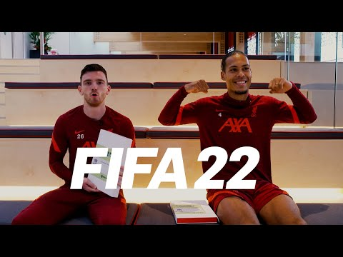 FIFA 22 reactions: 'Have they demoted you?'  |  Van Dijk and Robertson hand out FIFA VIP envelopes