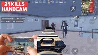 PUBG MOBILE HANDCAM - 21 KILLS SOLO VS SQUAD