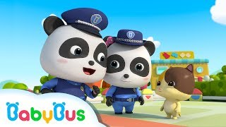 ❤ Baby Panda Police Man | Police Cartoon | Nursery Rhymes | Kids Songs | Baby Cartoon | BabyBus