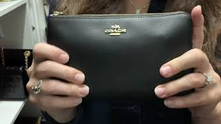 My fave Coach SLG small leather goods, coach card holder, coach zippy coin case, coach wristlet