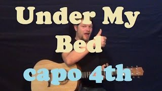 Under My Bed (Meiko) Easy Guitar Strum Chord Lesson How to Play Tutorial - Capo 4th Mp3